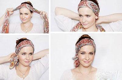 جدیدترین روش های بستن روسری روی موهایتان تصاویر