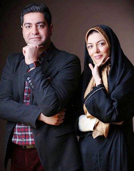 آزاده نامداری در کنار همسرش سجاد عبادی درحاشیه جشنواره فیلم فجر تصاویر