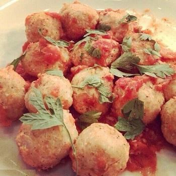 کوفته مرغ گوجه فرنگی غذایی ویژه افراد تپل! عکس