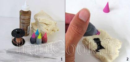 ساخت کاردستی گل رز با خمیر نان باگت  تصاویر