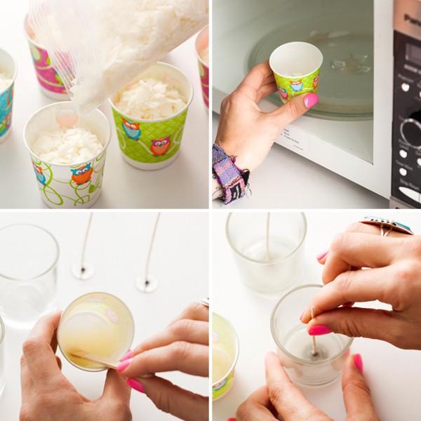 ساخت شمع رنگی بسیار زیبا و ساده  تصاویر