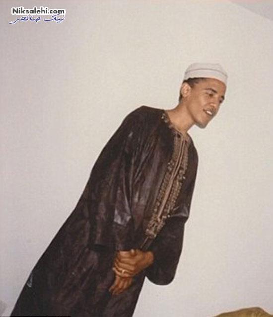 تیپ باراک اوباما در عروسی برادرش به سبک اسلامی