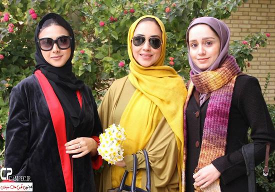 آزاده صمدی و بهاره کیان افشار در شیراز