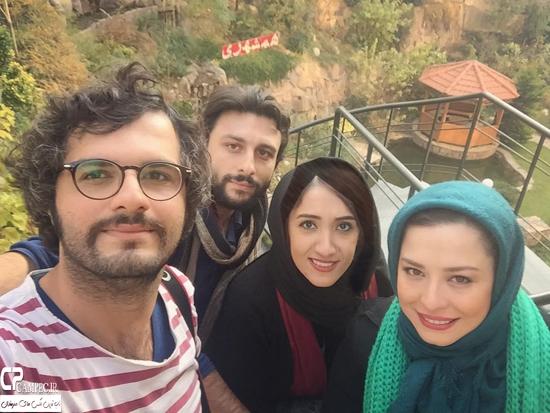 تیپ زمستانی مهراوه شریفی نیا بازیگر سریال کیمیا در اصفهان