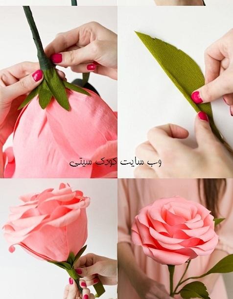 ساخت کاردستی گل رز  تصاویر