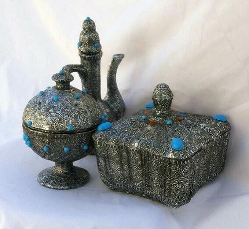 ساخت کاردستی نقره نما  تصاویر