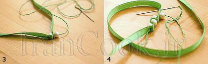 ساخت کاردستی دستبند مرواریدی  تصاویر