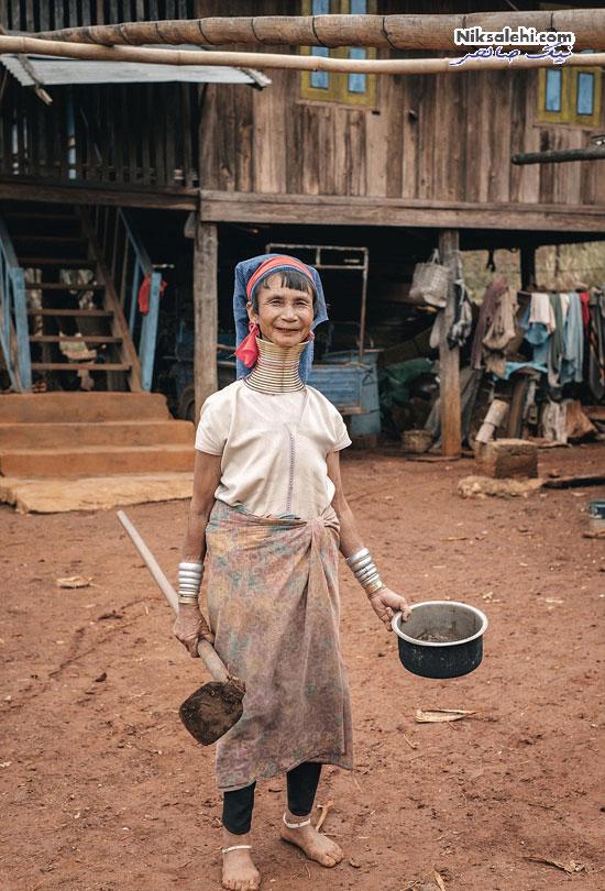 عکس های خیره کننده از زندگی زنان زرافه ای