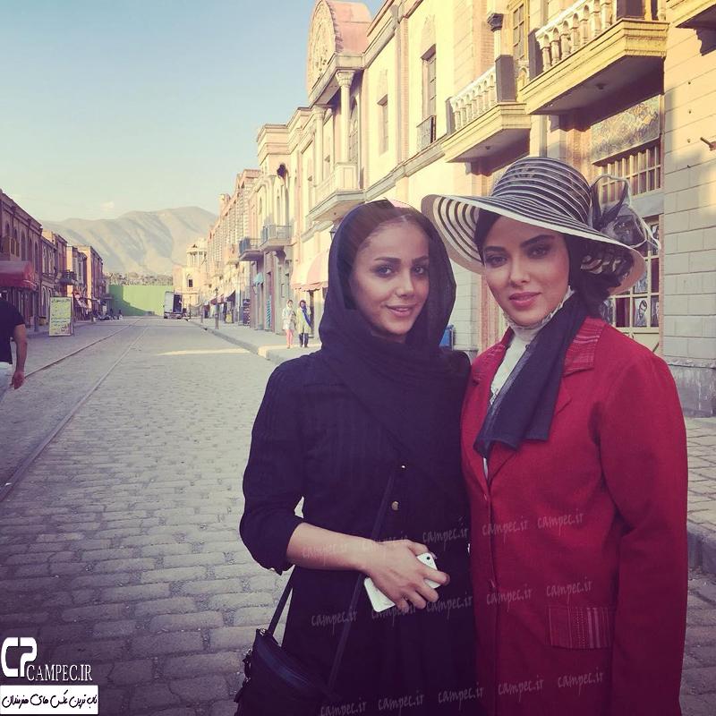 عکس های زیبای لیلا اوتادی در پشت صحنه فیلم آشوب