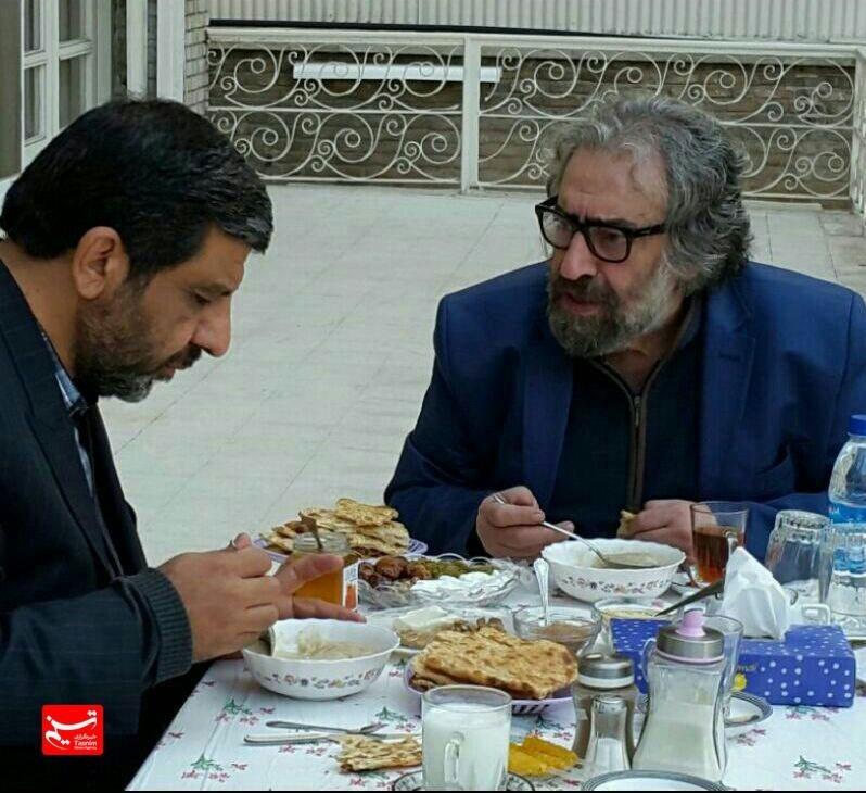 صبحانه ضرغامی با مسعود کیمیایی! عکس
