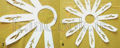 ساخت کاردستی جاشمعی کاغذی  تصاویر