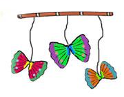 ساخت کاردستی پروانه های متحرک  تصاویر
