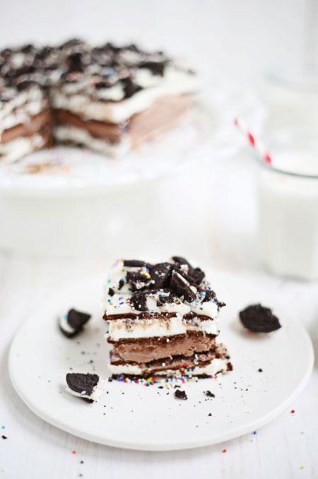 طرز تهیه آسان ترین کیک بستنی دنیا! عکس
