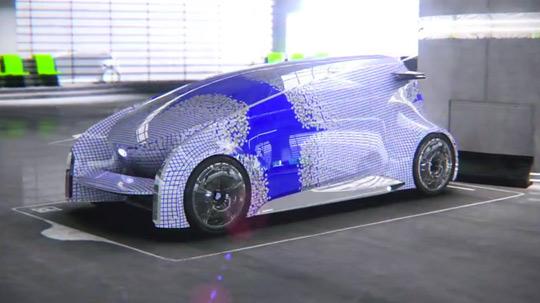 اتومبیلی با بدنه صفحه نمایش لمسی تصاویر