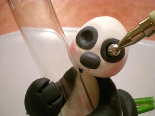 آموزش تصویری ساخت مجسمه خرس پاندا تصاویر