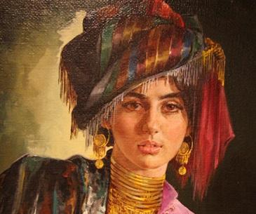 عباس کاتوزیان خالق تابلوی معروف «دختر کرد» نقاشی های زیبا