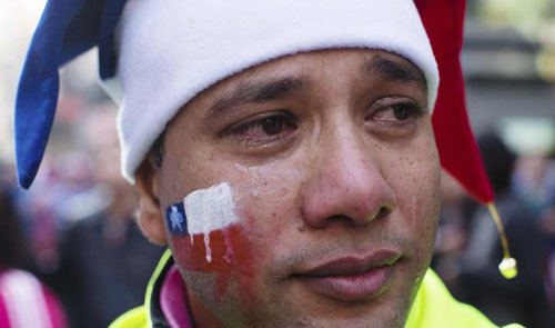 هواداران شکستخورده جام جهانی فوتبال
