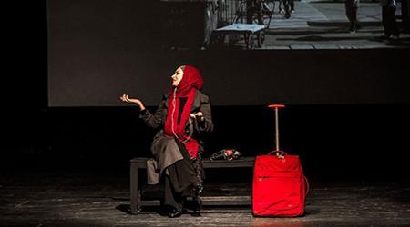 بهنوش طباطبایی در اجرای نمایش تئاتر