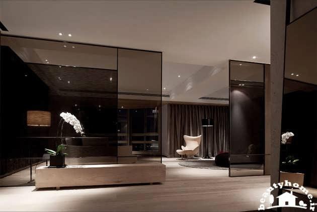 دکوراسیون داخلی منزل با رنگ های تیره  تصاویر