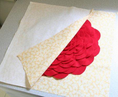 آموزش دوخت گل روی کوسن