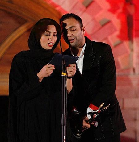صابر ابر بازیگر مرد سینما در جشن خانه سینما تصاویر
