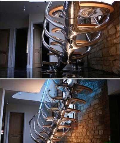 معماری بسیار جالب پله های منزل