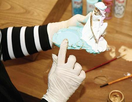 تزیین سفره هفت سین با هنر پتینه