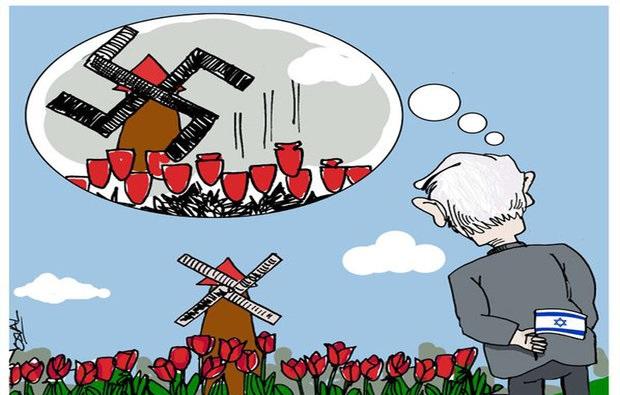 مجموعه کاریکاتورها سفر نتانیاهو به هلند