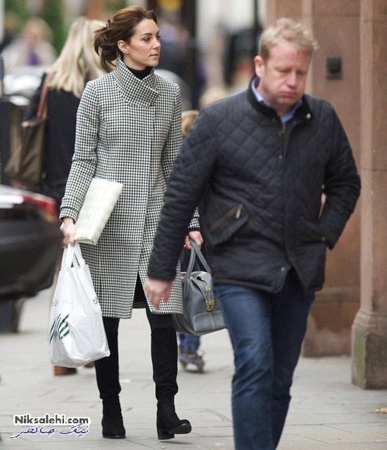 تیپ کیت میدلتون هنگام خرید برای عید کریسمس