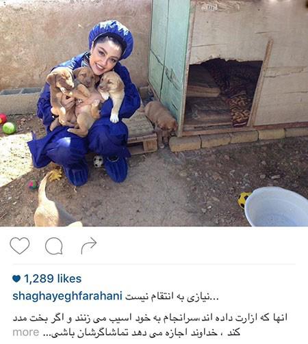 شقایق فراهانی و زوج هنرمند و مهربانی با حیوانات تصاویر