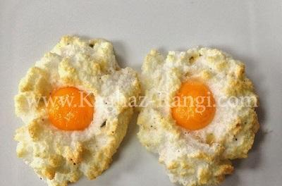 یک صبحانه زیبا و متفاوت با تخم مرغ ابری! عکس