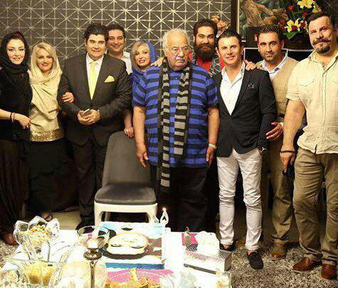 جشن تولد 85 ناصر ملک مطیعی با حضور نیوشا ضیغمی و همسرش و جمعی از بازیگران