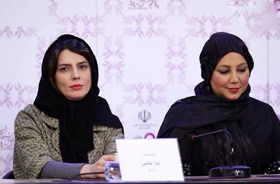 لیلا حاتمی و همسرش علی مصفا در محل جشنواره فجر تصاویر