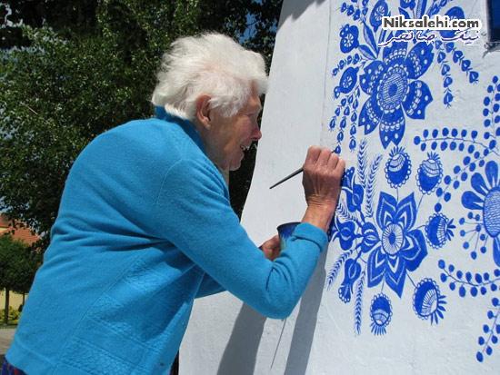 هنر زیبای این خانم 87 ساله دیدنی است