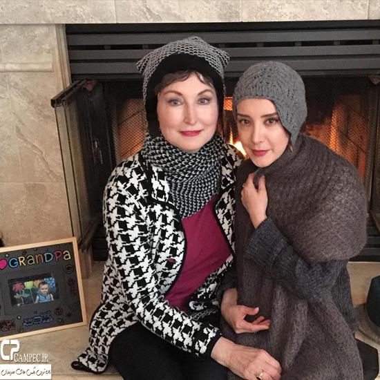 رونمایی سحر جعفری جوزانی برای اولین بار از مادر آمریکاییاش