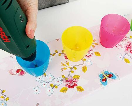 آموزش درست کردن جالباسی با لیوان های پلاستیکی