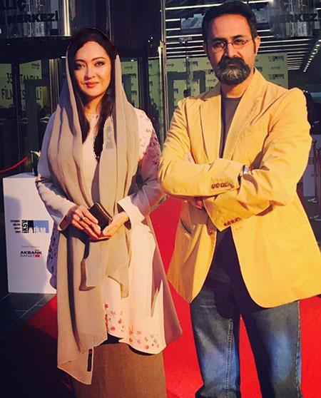 نیکی کریمی در کنار پدرش و کارگردان سینما تصاویر
