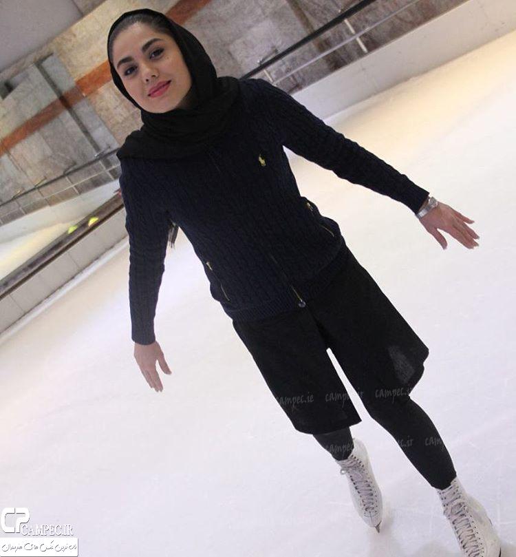 عکس های بازیگران زن در حال اسکی روی یخ