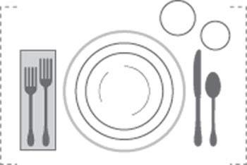 روش های چیدمان میز غذاهای رسمی پذیرایی از میهمانان