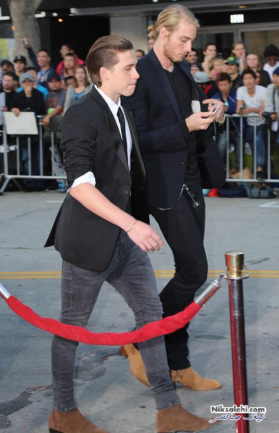 اولین فرش قرمز پسربکهام با نامزد ستاره هالیوودی اش