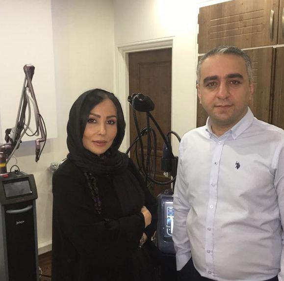پرستو صالحی و معرفی یک متخصص پوست و مو! تصاویر