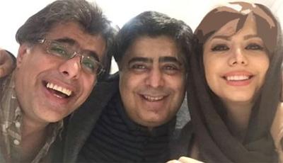 رضا شفیعی جم در کنار خواهر و برادرش عکس
