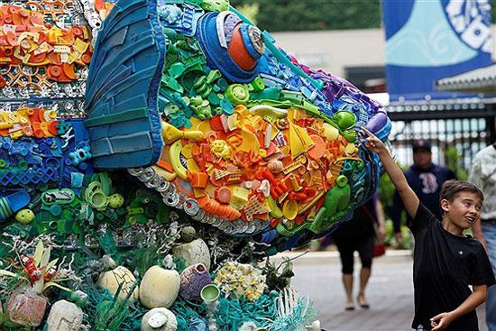 ساختن مجسمه های زباله ای در واشنگتن! تصاویر