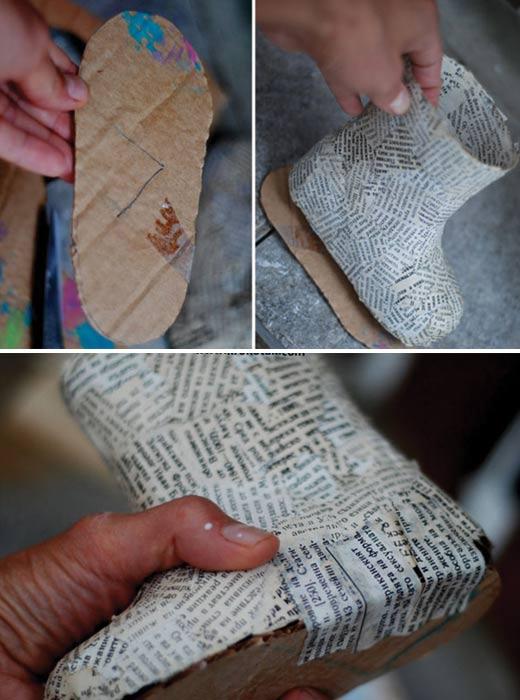 ساخت جامدادی با چکمه  تصاویر