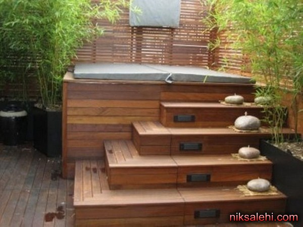 ایده هایی عالی برای طراحی جکوزی در حیاط و باغ  تصاویر