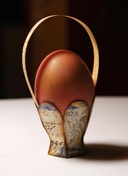 آموزش ساخت سبد بسیار زیبا و ساده برای تخم مرغ های سفره هفت سین تصاویر