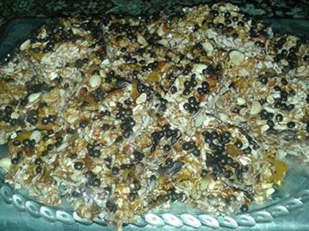 شیرینی جوپرک با آجیل و عسل پرکالری و لذیذ