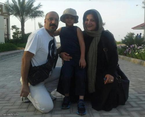 عکس جدید امیر جعفری و همسرش ریما رامین فر و پسرشان در کیش