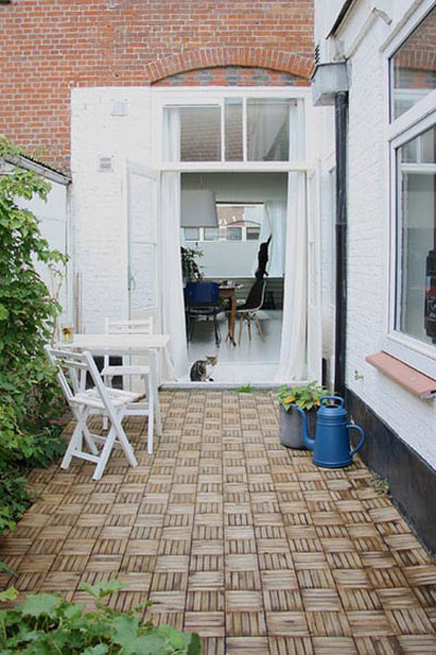 زیباسازی حیاط خلوت در روزهای بهاری تصاویر جذاب