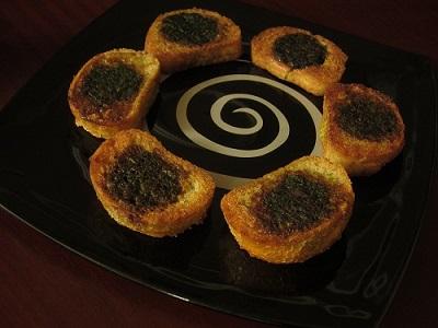 کوکو سبزی در نان باگت , متفاوت و خوشمزه! عکس